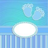 Cartão para o menino recém-nascido Fotografia de Stock Royalty Free