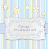 Cartão para o miúdo bithday ou o partido Imagens de Stock Royalty Free