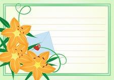 Cartão para pagar seus respeitos, sentimentos. Fotografia de Stock