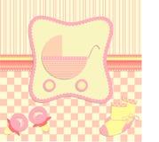 Cartão para recém-nascido Fotografia de Stock Royalty Free