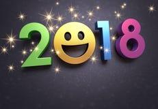 Cartão 2018 para sorrir Fotos de Stock