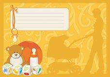Cartão para uma criança recém-nascida Foto de Stock Royalty Free