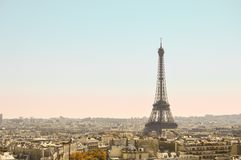 Cartão parisiense fotografia de stock