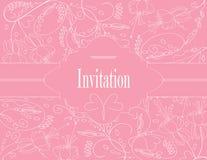 Cartão pastel Wedding Fotografia de Stock