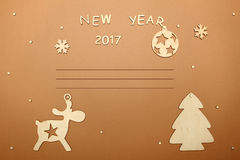 Cartão pelo ano novo Fotos de Stock Royalty Free