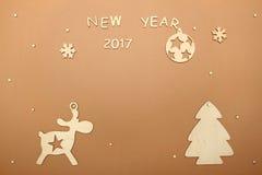 Cartão pelo ano novo Imagens de Stock Royalty Free