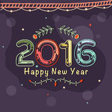 Cartão pelo ano novo feliz 2016 Foto de Stock
