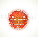 Cartão pelo Natal e o ano novo 2016 Foto de Stock