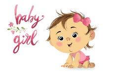 Cartão pequeno bonito do bebê Fotos de Stock