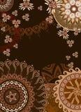 Cartão persia do chocolate ilustração do vetor