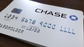 Cartão plástico com logotipo de Chase Bank Rendição 3D conceptual editorial ilustração do vetor