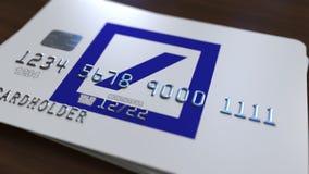 Cartão plástico com logotipo do DB de Deutsche Bank Rendição 3D conceptual editorial ilustração do vetor