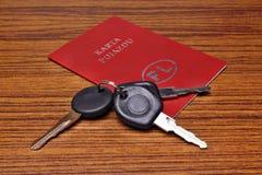 Cartão polonês do veículo do carro Imagens de Stock Royalty Free