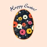 Cartão por feriados da Páscoa Fotografia de Stock