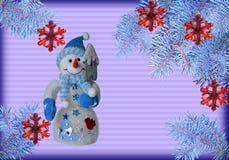 Cartão por o ano novo Fotos de Stock