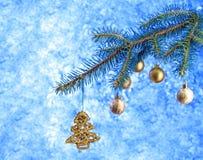 Cartão por o ano novo Fotografia de Stock Royalty Free
