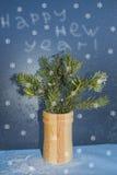 Cartão por o ano novo Imagem de Stock