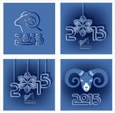 Cartão por o Natal e o ano novo Foto de Stock Royalty Free