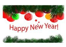 Cartão por o Natal e o ano novo Imagens de Stock
