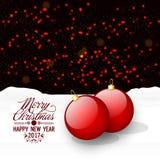 Cartão por o Natal e o ano novo Imagem de Stock Royalty Free