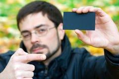 Cartão preto Fotos de Stock Royalty Free