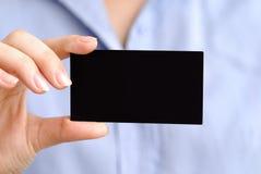 Cartão preto Imagem de Stock