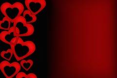 Cartão preto e vermelho do Valentim Fotos de Stock Royalty Free