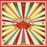 Cartão quadrado da cor do circo. Fotos de Stock Royalty Free