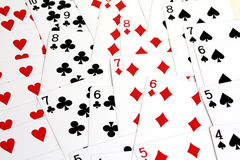 Cartão que joga Imagens de Stock Royalty Free