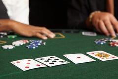 Cartão que joga foto de stock royalty free