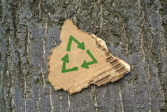 Cartão que recicl o símbolo Imagem de Stock Royalty Free