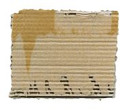 Cartão rasgado isolado Fotografia de Stock