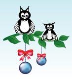 Cartão reative do ¡ de Ð com coruja ilustração stock