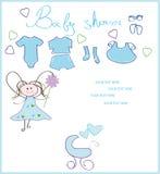 Cartão recém-nascido Fotografia de Stock
