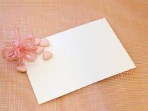 Cartão recém-nascido ou do baptismo fotografia de stock royalty free