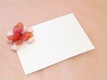 Cartão recém-nascido ou do baptismo foto de stock