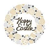 Cartão redondo decorativo da Páscoa Imagem de Stock