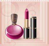 Cartão relativo à promoção com perfume Fotos de Stock Royalty Free