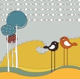 Cartão retro Imagem de Stock Royalty Free