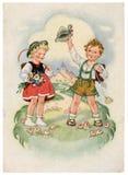 Cartão retro Fotografia de Stock
