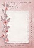 Cartão retro do amor com rosas Foto de Stock Royalty Free