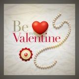 Cartão retro do dia de Valentim ilustração stock