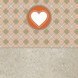 Cartão retro do dia do Valentim com coração. EPS 8 Imagem de Stock