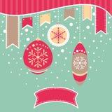 Cartão retro do Natal Imagem de Stock Royalty Free