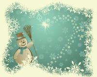 Cartão retro do Natal (ano novo) Fotos de Stock Royalty Free