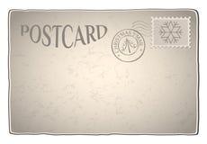 Cartão retro do Xmas ilustração royalty free