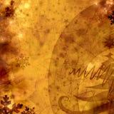 Cartão retro do Xmas na textura de papel velha Fotos de Stock Royalty Free