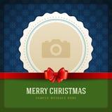 Cartão retro e lugar do Natal para a foto Imagens de Stock