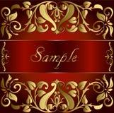 Fundo do ouro do vintage do vetor floral Fotos de Stock Royalty Free