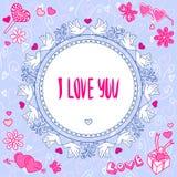 Cartão romântico Imagens de Stock Royalty Free